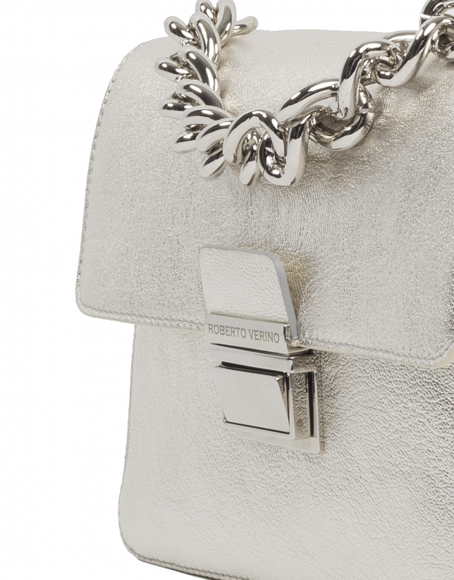 Metallic leather Joyce purse
