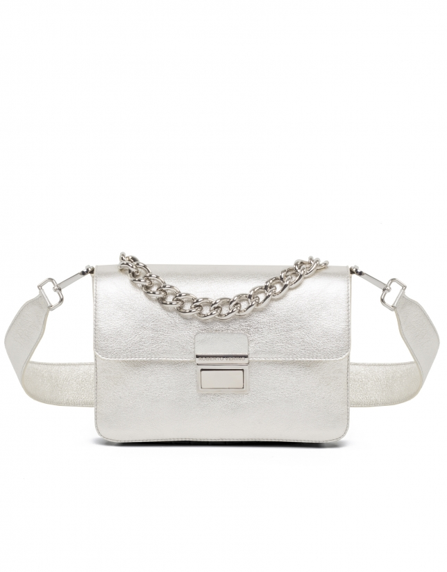 Metallic leather Joyce purse
