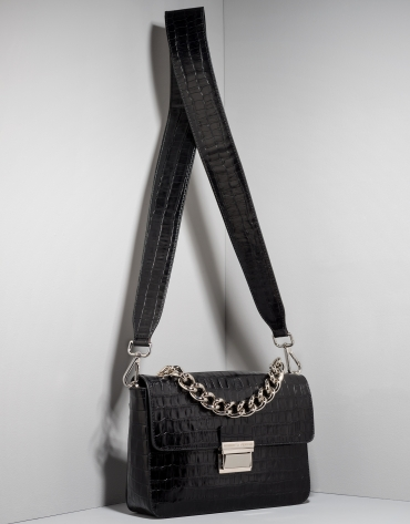 Black alligator leather Joyce purse