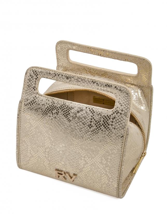 Gold snakeskin Pane bowling bag