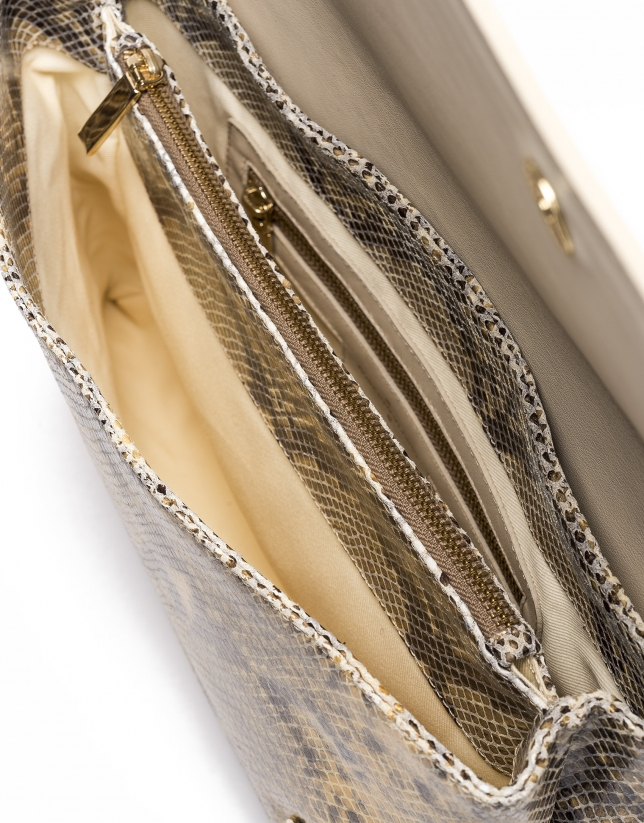 Manhattan Snakeskin courier bag