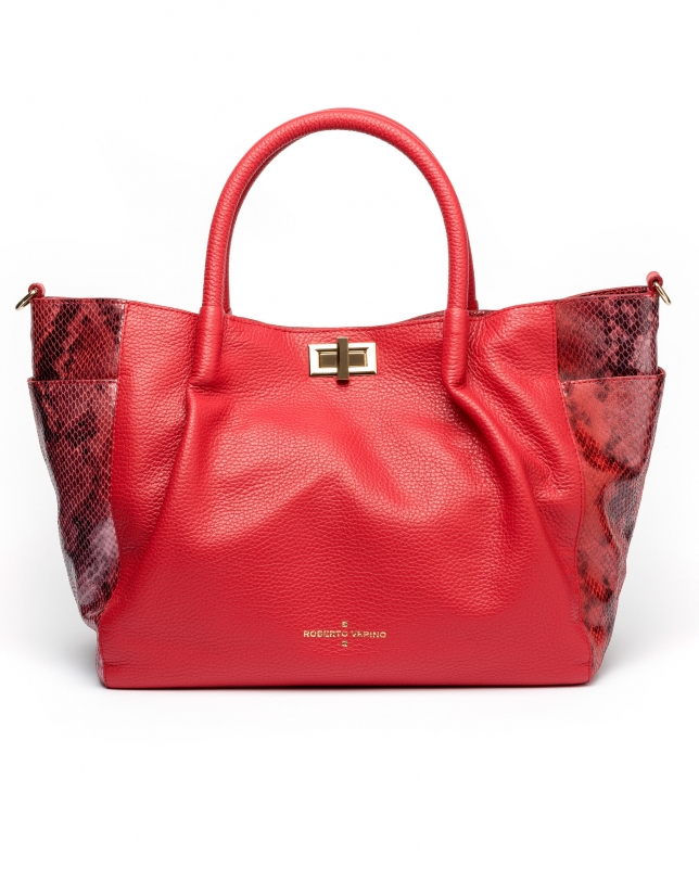 Red Avenue tote bag
