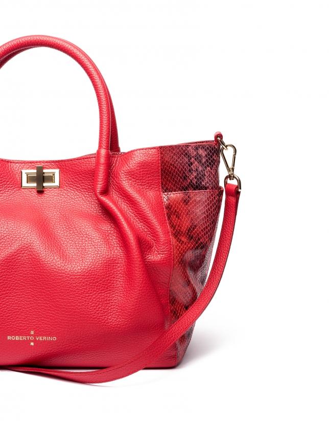 Red Avenue tote bag