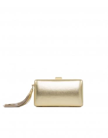 Gold leather clutch Danse