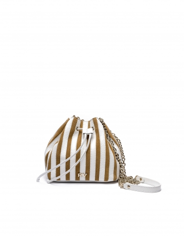 White/beige Saint Germaine bouquet bag