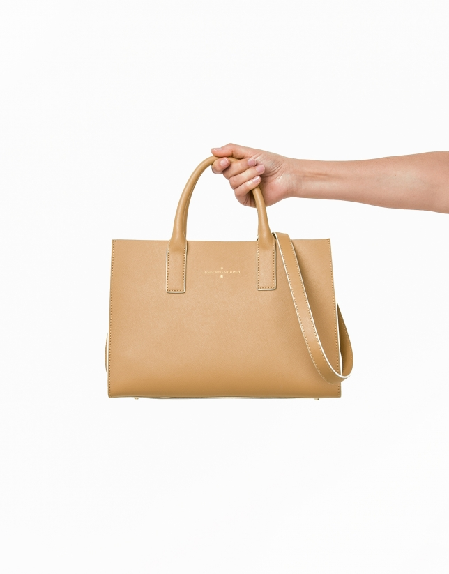 Beige Montpellier shopping bag