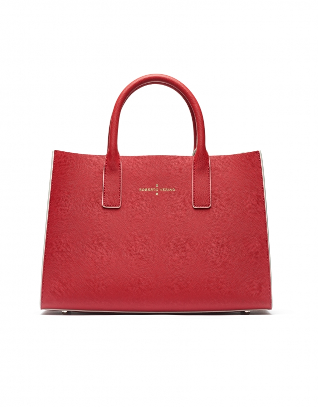 Red Montpellier shopping bag