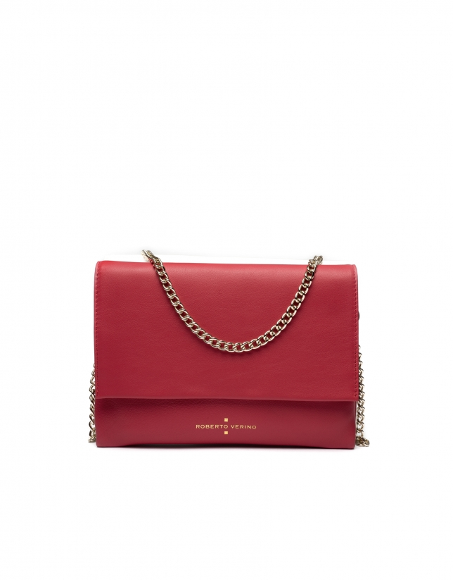 Red/white Day-Night shoulder bag