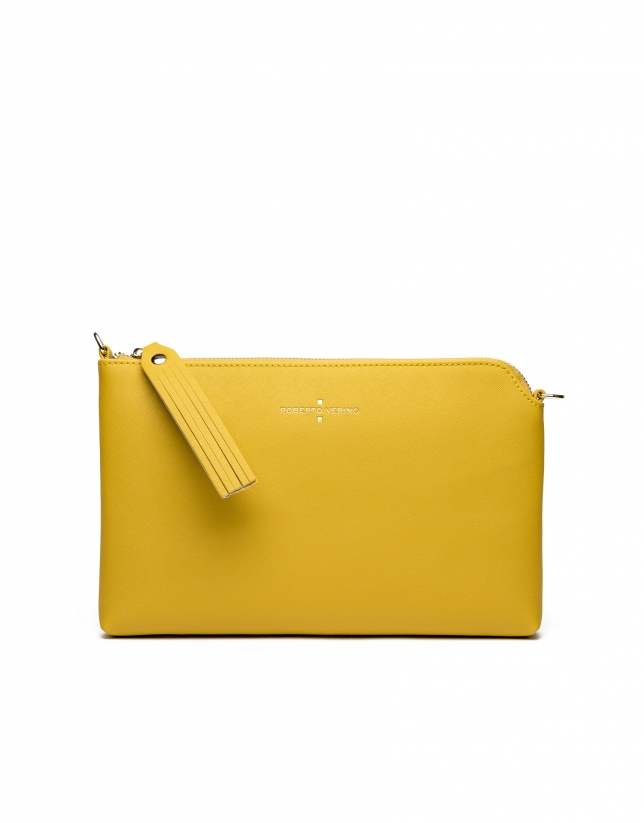 Clutch Lisa saffiano amarillo