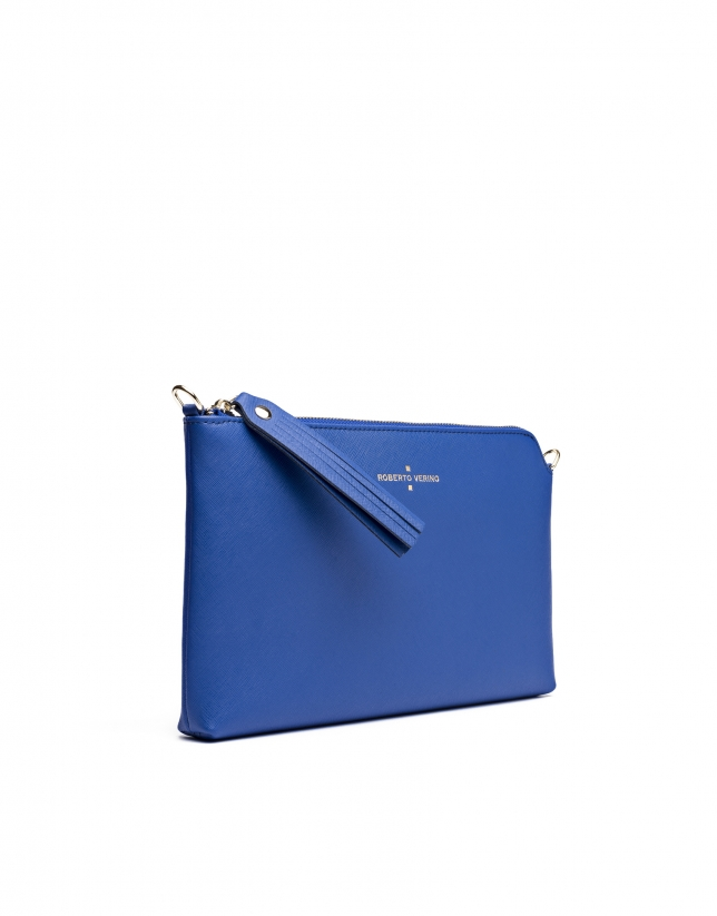 Clutch Lisa saffiano azul