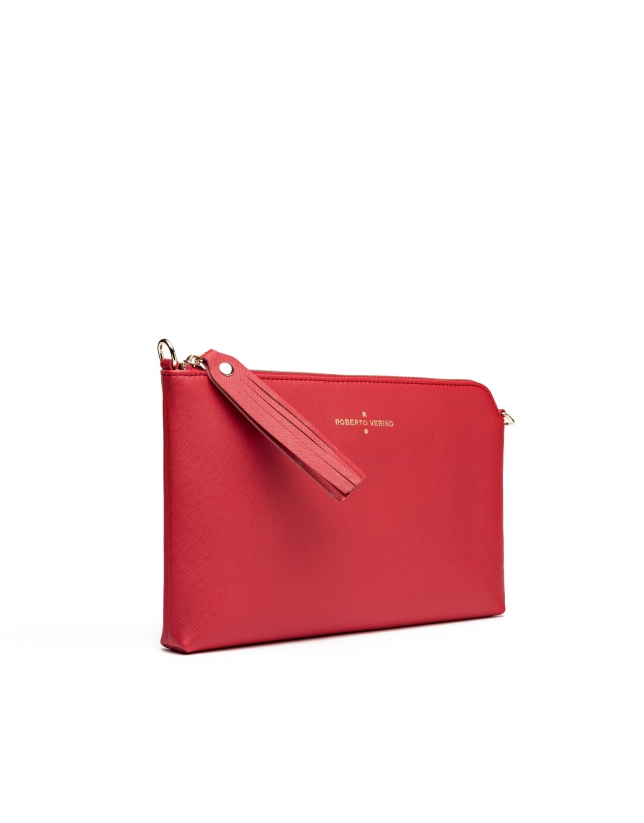 Clutch Lisa saffiano rouge vif