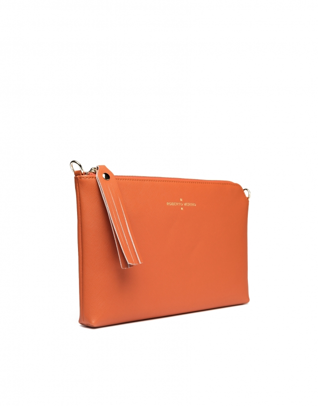 Clutch Lisa saffiano orange