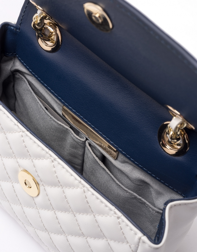 White/blue Ghauri Nano shoulder bag