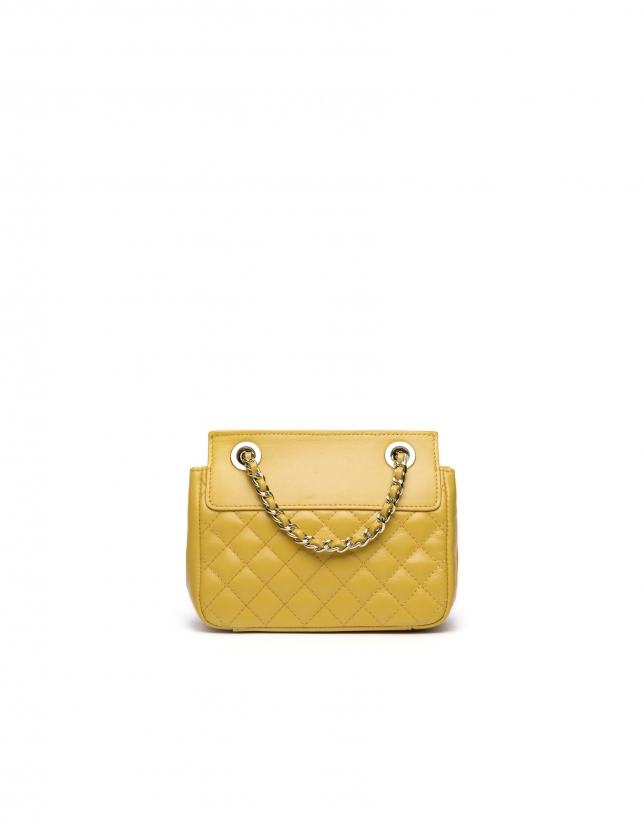 Yellow Ghauri Nano shoulder bag