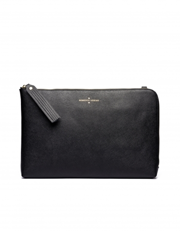 Black Mega Lisa clutch