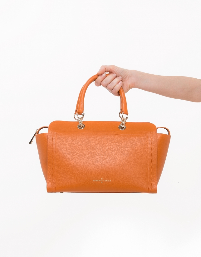 Satchel Romeo orange brûlé