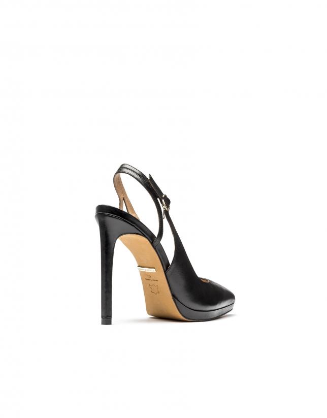 Orleans open heel pumps