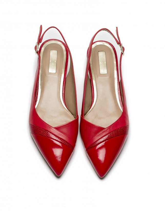 Bailarina destalonada piel roja Provence