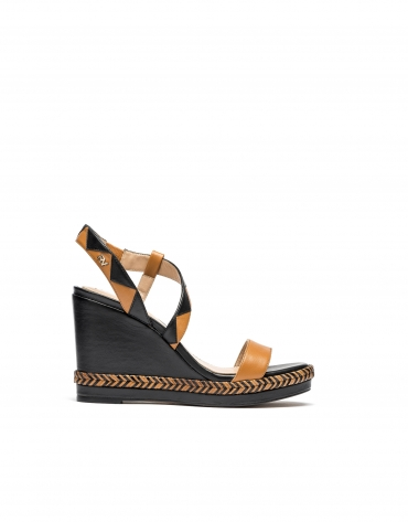 Brown wedge sandals Cannes