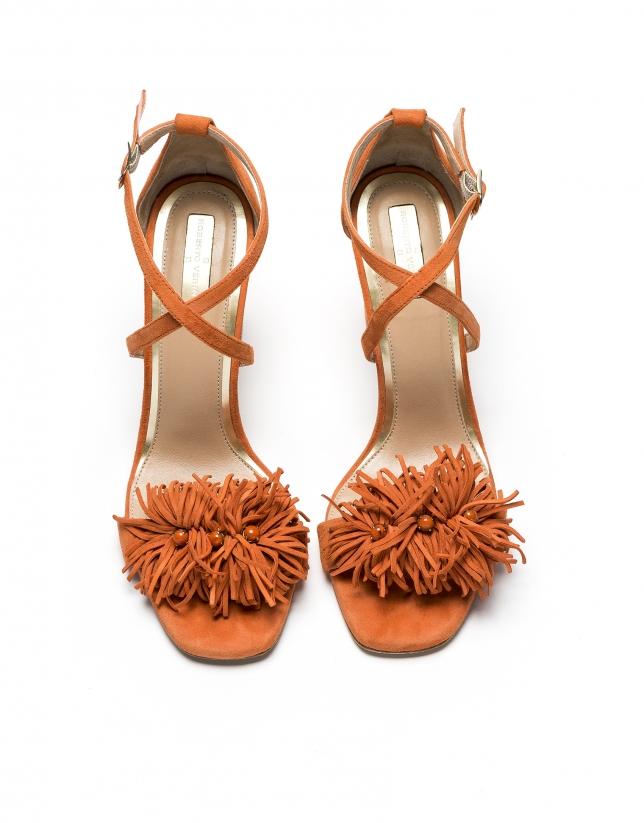 Sandale en cuir caprin /daim Nice