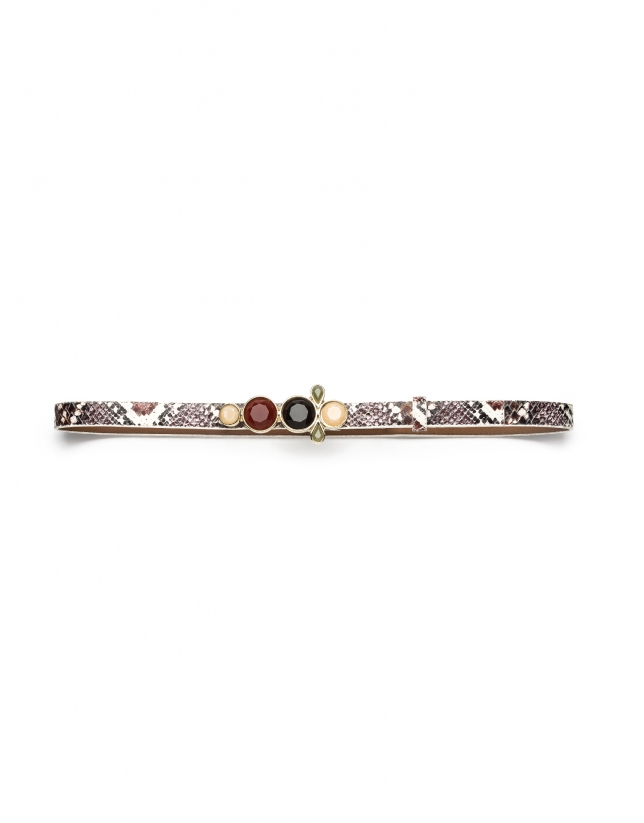 Belt with decorative jewelry