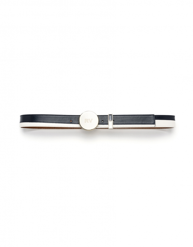 Red/white two-tone belt
