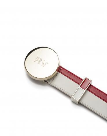Cinturón bicolor rojo/blanco