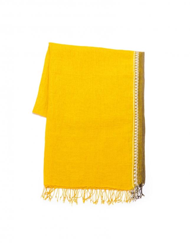 Foulard dibujo amarillo