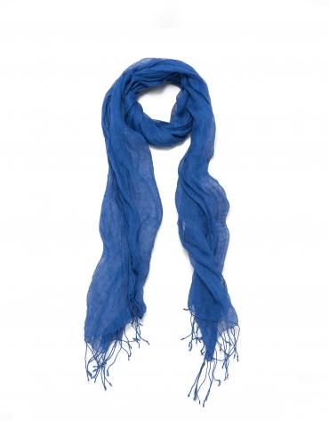 Foulard azul cobalto