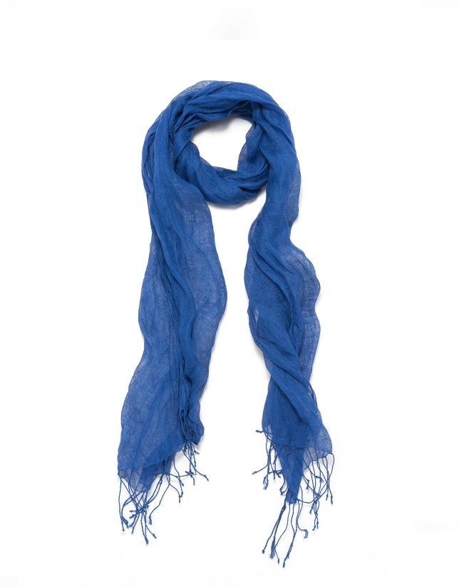 Cobalt blue scarf