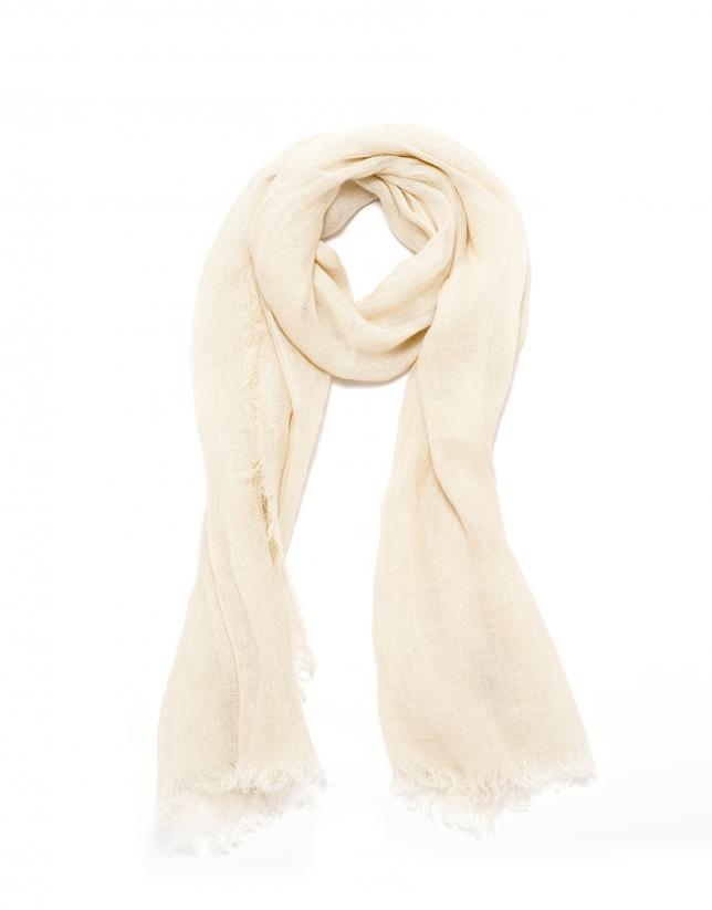 Beige linen scarf