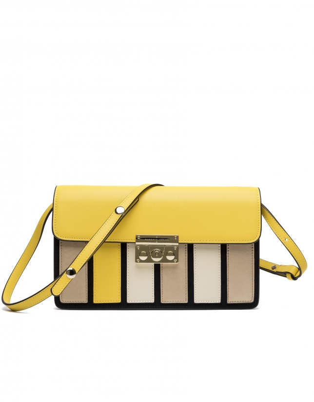 Yellow Geraldine clutch/shoulder bag