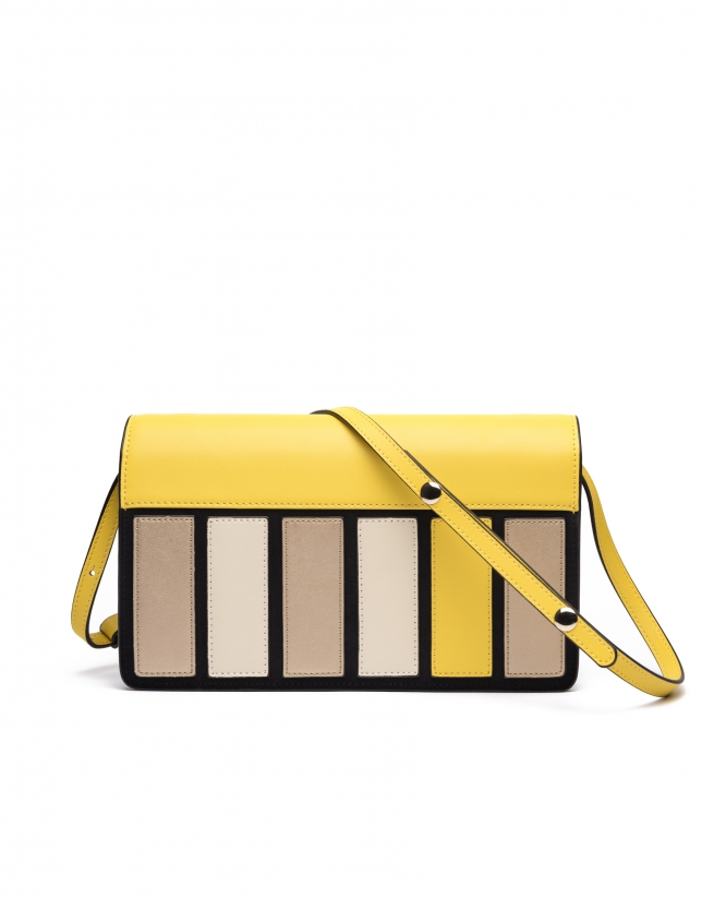 Yellow Geraldine clutch/shoulder bag