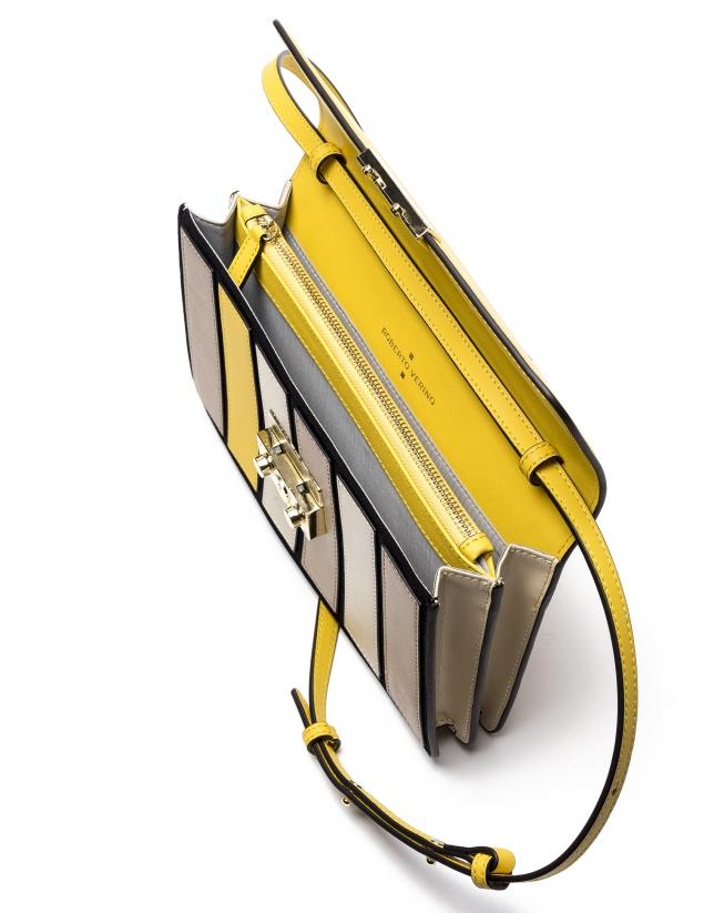 Sac Shoulder/Clutch Geraldine jaune