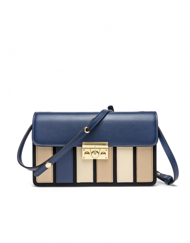 Blue Geraldine clutch/shoulder bag