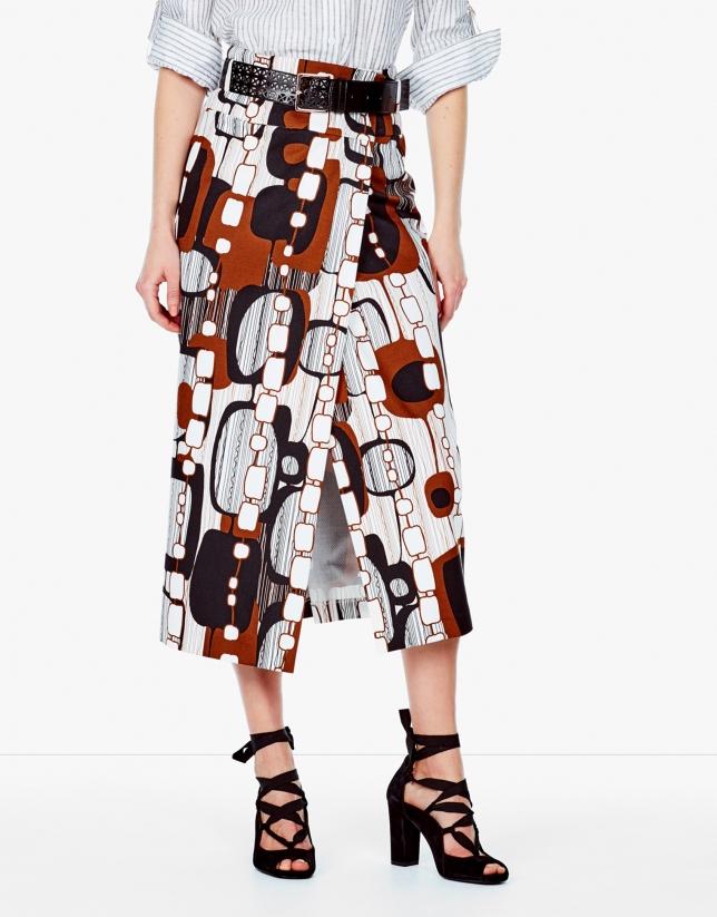 Midi wrap skirt