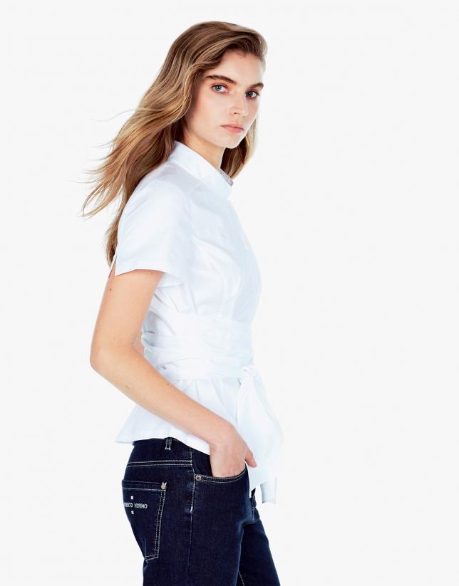 Camisa lazo blanca