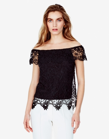 Off white lace top with  lace