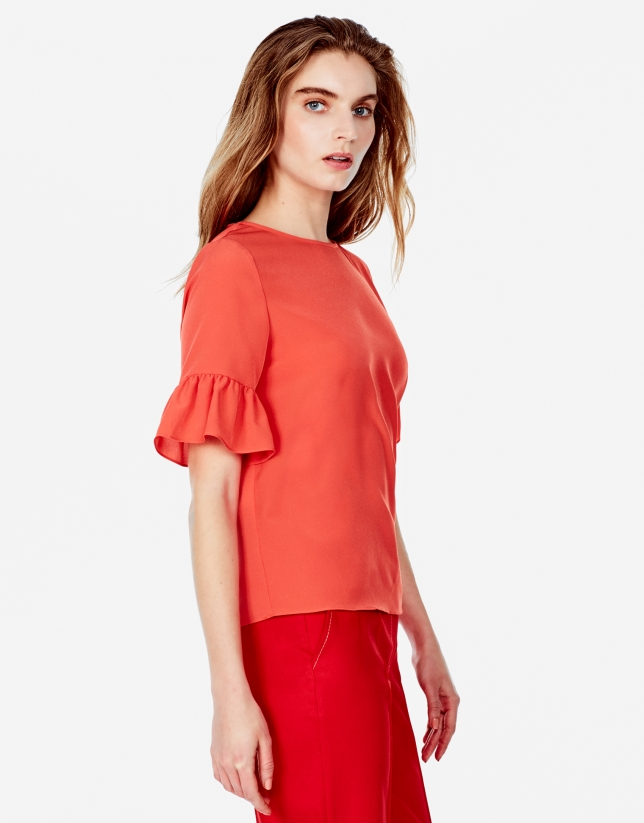 Orange top with full sleeves