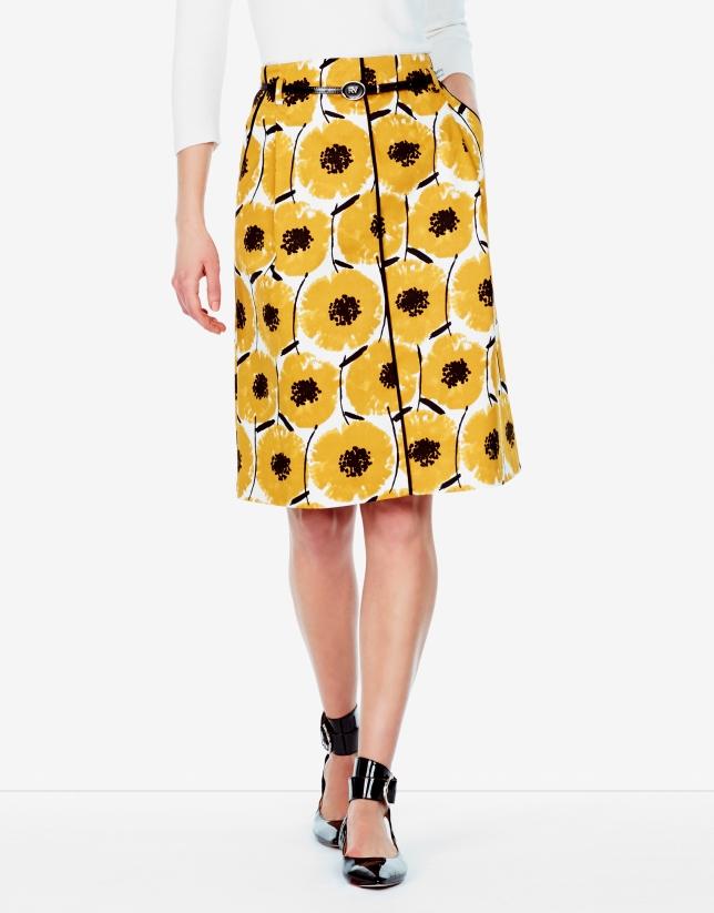 Amber print skirt