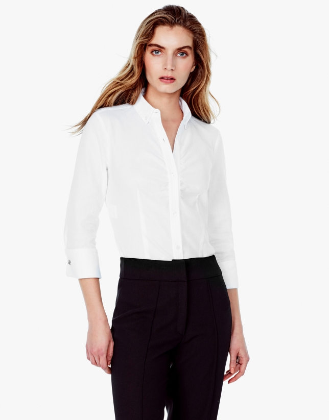 Camisa piqué blanca