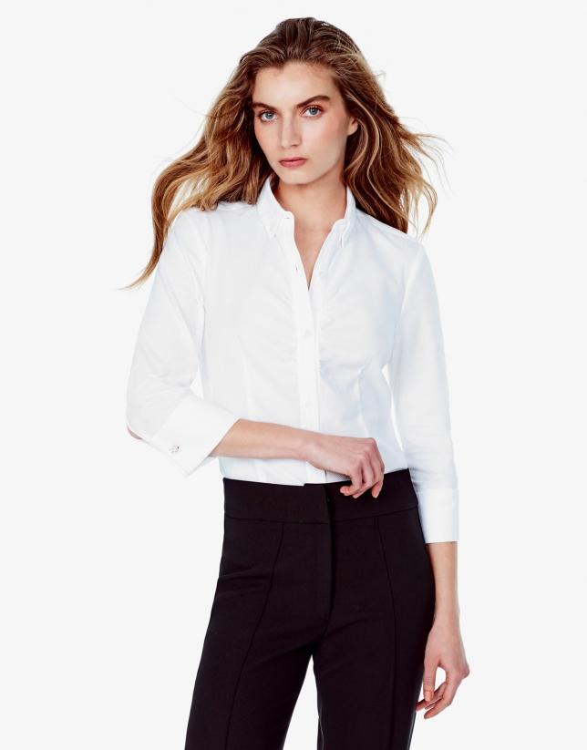 Chemise en piqué blanche