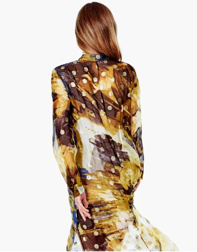 Blusón/vestido cuello mao