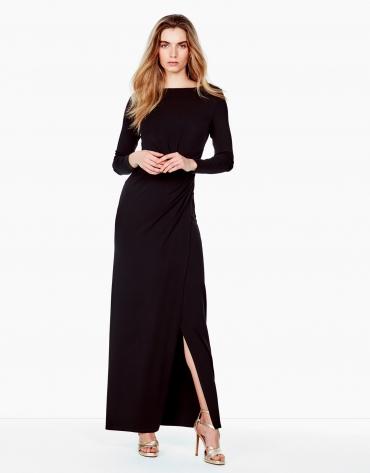 Vestido largo punto negro