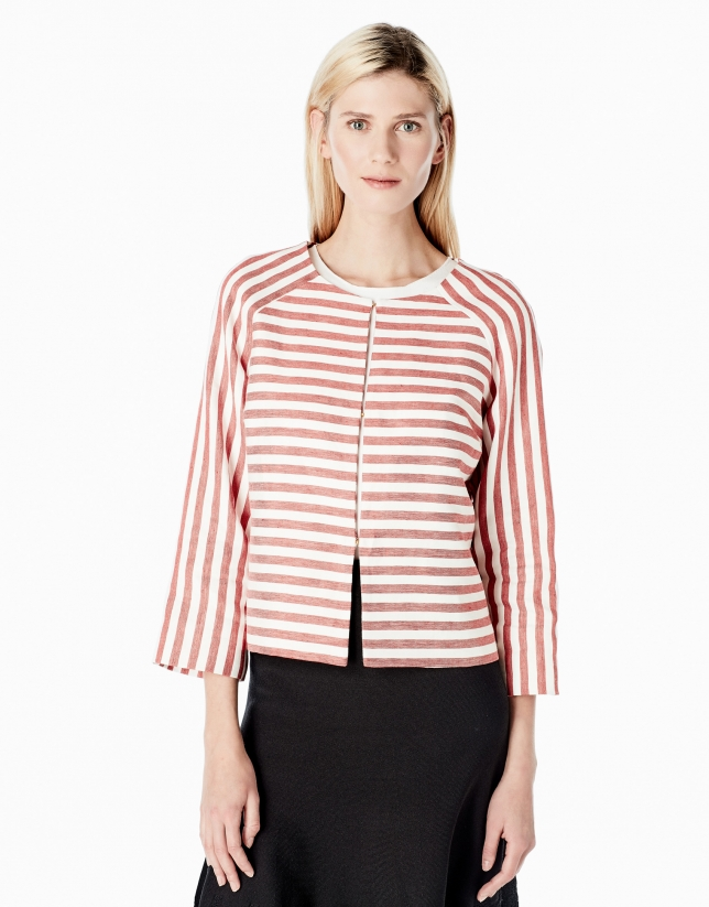 Striped short jacket