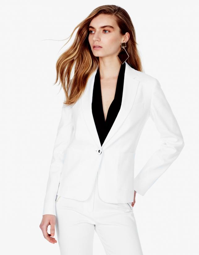 Blazer blanca lino