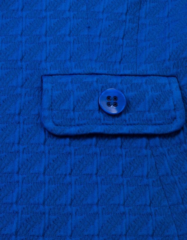 Veste à jacquard bleue