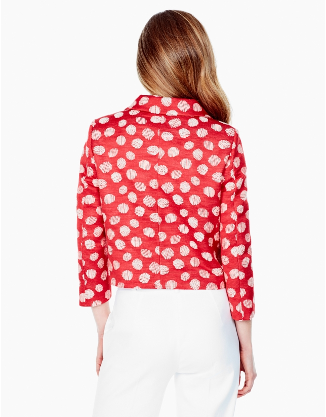Red polka dot jacket