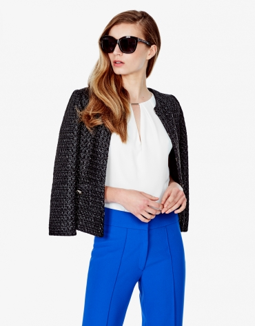 Black short jacket with pockets