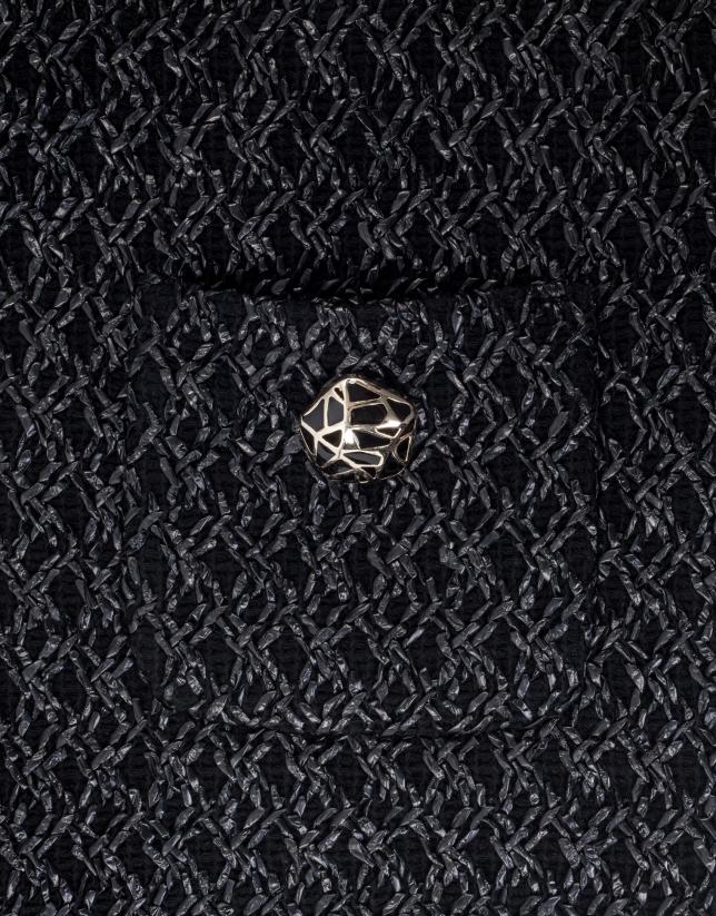 Chaqueta corta bolsillos negra